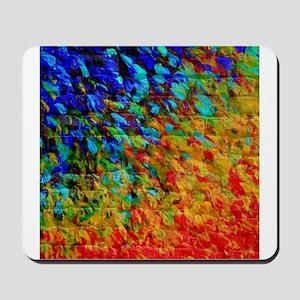 Collision Course, Rainbow Splash Art Mousepad