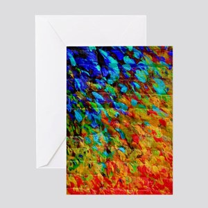 Collision Course, Rainbow Splash Art Greeting Card