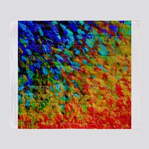 Collision Course, Rainbow Splash Art Throw Blanket