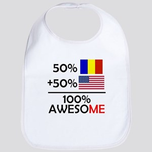 Half Romanian Half American Bib