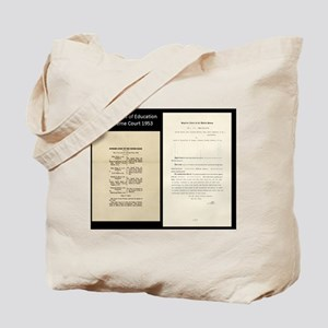 Brown V Board Ed Supreme Court 1953 Tote Bag