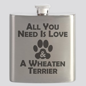 Love And A Wheaten Terrier Flask
