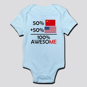 Half Chinese Half American Body Suit