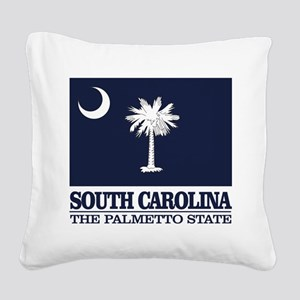 South Carolina Flag Square Canvas Pillow