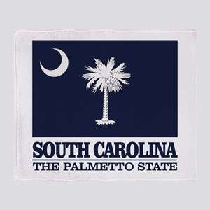 South Carolina Flag Throw Blanket