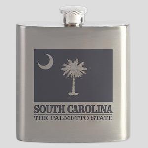 South Carolina Flag Flask