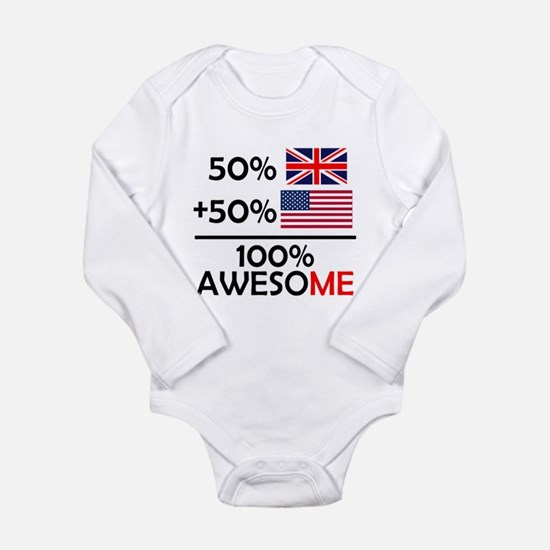 Half British Half American Body Suit