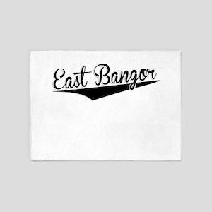 East Bangor, Retro, 5'x7'Area Rug