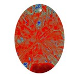 Action flower Ornament (Oval)