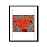 Action flower Framed Panel Print
