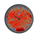 Action flower Wall Clock