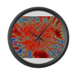 Action flower Large Wall Clock
