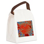 Action flower Canvas Lunch Bag