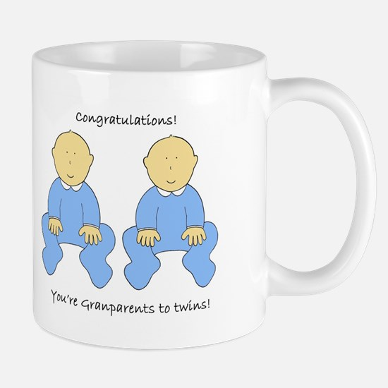 Grandparents to twins congratulations. Mugs