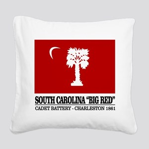 South Carolina Big Red Square Canvas Pillow