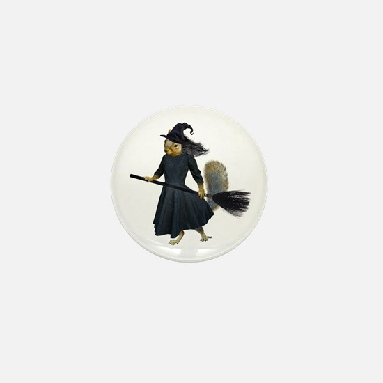 Squirrel Witch Mini Button
