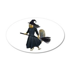 Squirrel Witch Wall Decal