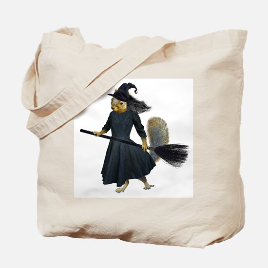Squirrel Witch Tote Bag