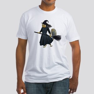 Squirrel Witch Fitted T-Shirt