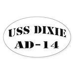 USS DIXIE Sticker (Oval)