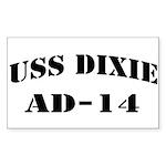USS DIXIE Sticker (Rectangle)