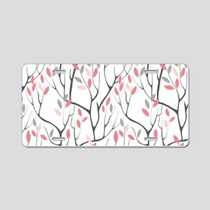 Red Leaves Aluminum License Plate