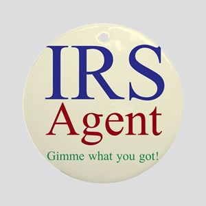 IRS Agent Ornament (Round)