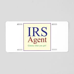 IRS Agent Aluminum License Plate
