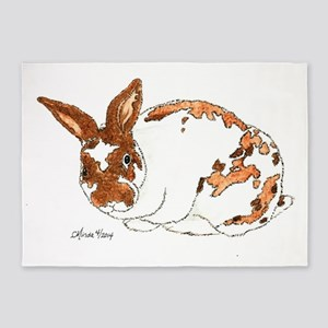 Adoptable Mini Rex Bunny 5'x7'Area Rug