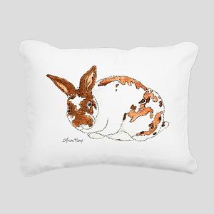 Adoptable Mini Rex Bunny Rectangular Canvas Pillow