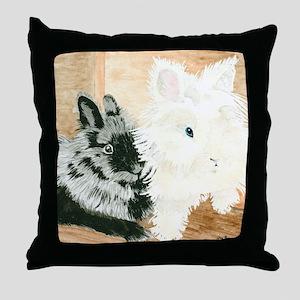 Lionheads Lola and Vito Throw Pillow