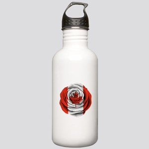 Canadian Rose Flag Water Bottle