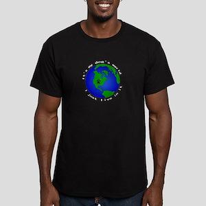 It's my dog's world Men's Fitted T-Shirt (dark)