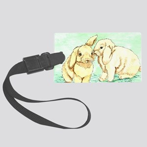 Bunny Secrets Large Luggage Tag