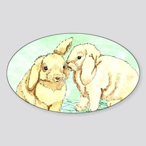 Bunny Secrets Sticker (Oval)