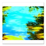 Beautiful summer day Square Car Magnet 3
