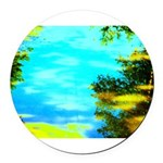 Beautiful summer day Round Car Magnet