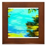 Beautiful summer day Framed Tile