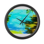 Beautiful summer day Large Wall Clock