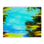 Beautiful summer day Throw Blanket