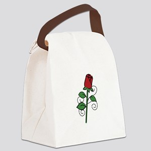 Valentine Rose Canvas Lunch Bag