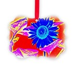 Blue Sunflower Ornament