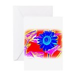 Blue Sunflower Greeting Cards