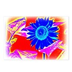 Blue Sunflower Postcards (Package of 8)