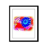 Blue Sunflower Framed Panel Print