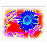 Blue Sunflower Posters