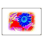 Blue Sunflower Banner