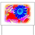 Blue Sunflower Yard Sign