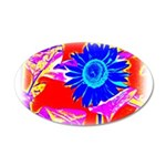Blue Sunflower Wall Decal