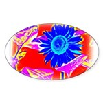 Blue Sunflower Sticker